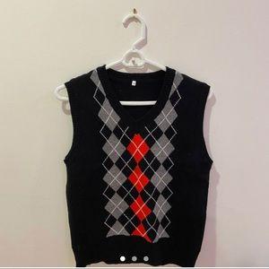 argyle sweater vest